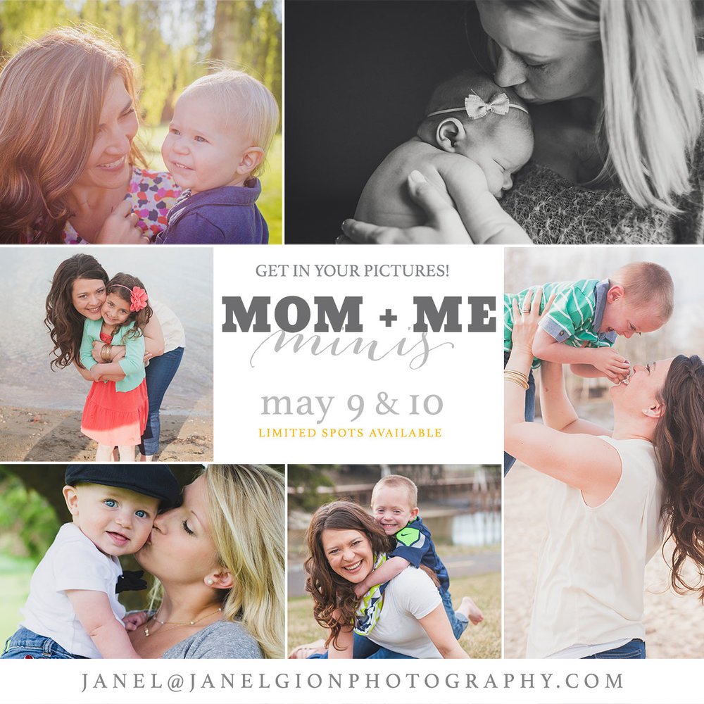 Spring Mom and Me Mini Session Sandpoint Idaho Photographer