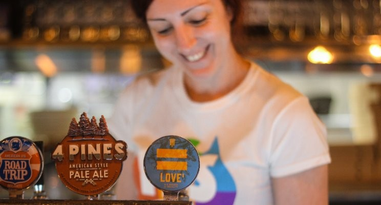 Love on tap at the launch of Love² beer for marriage equality at Collective Kitchen and Bar in Brisbane (photo by Sam Mehan)