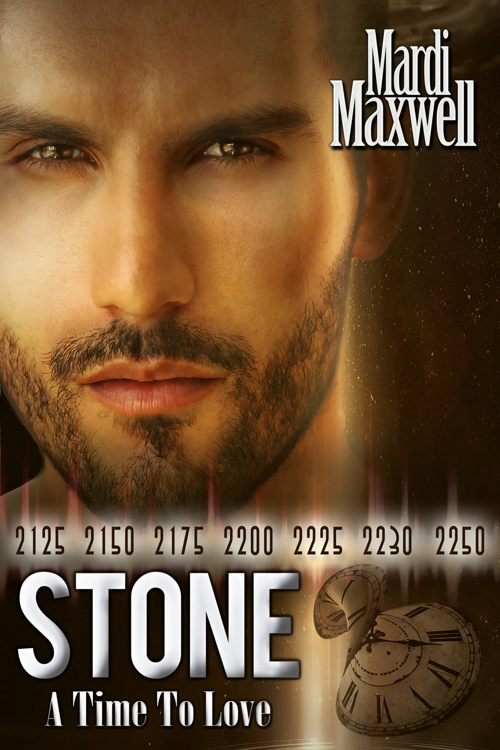 Stone: A Time to Love - Lieutenant Sunny Blake has spent most of her life fighting the aliens who invaded Earth. She and her friends are losing the war and the future is bleak until they stumble upon an abandoned alien device. After several months the scientists realize that it's a teleportation and time-travel device. A plan is formed and Sunny is ordered to go back in time and bring Jefferson W. Stone, one of Earth's most famous warriors.In 2125, Stone is trapped in a canyon in enemy territory, out of ammunition, mortally wounded and seconds from death. The enemy is closing in on him when an apparition appears, grabs him and whisks him away. He wakes a hundred and five years in the future, and is given a choice…stay and fight, or return to his time and die.
