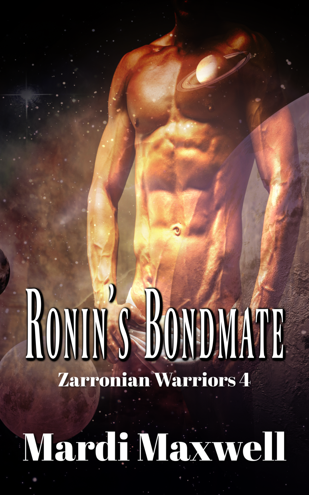 Ronin's Bondmate - Ronin Hughson has searched the Universe for his mate. He's accepted he'll never find her when he sees her on Krystali. He's relieved and eager to bond with her until he meets her. Belle is stunningly beautiful but she's obnoxious and arrogant, and not the kind of female he hoped to have as his mate and the mother of his children.Belle has protected her friends from her mother's evil schemes by misbehaving and pushing them away. She isn't surprised when she's finally banished from the community until Ronin insists on going with her. Belle is determined to keep her secrets and does everything she can to run him off, but Fate has other plans for them. Now, she and Ronin have a decision to make about their future, but either way it's going to be a battle.