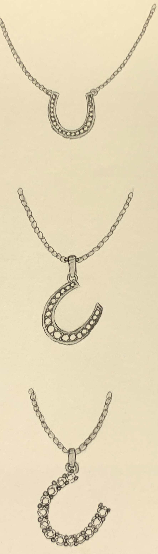 Horseshoe diamond set pendant ideas.