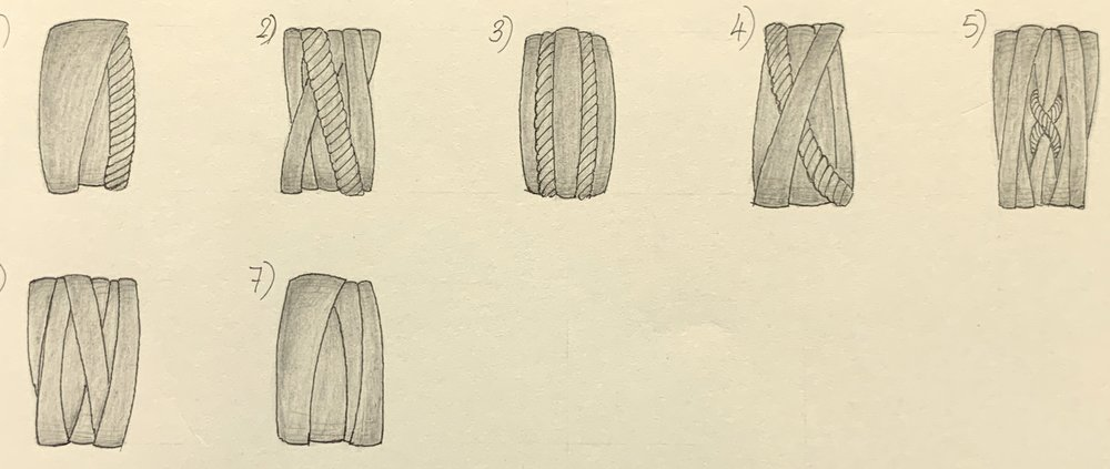 Designs for a close fitting hoop earring.