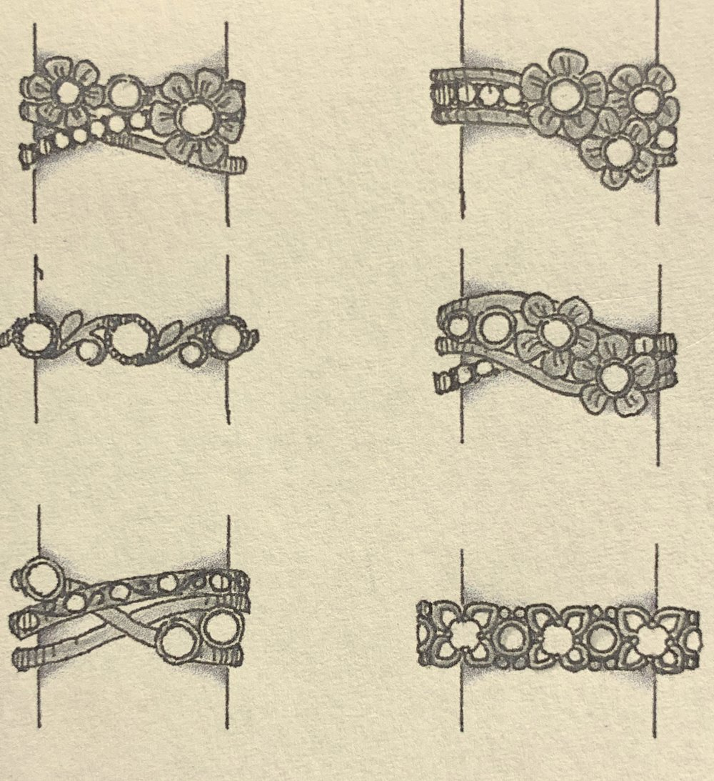 Designs using customers three diamonds.