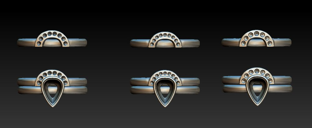Copy of Variations for a shaped and fitted diamond set wedding ring.