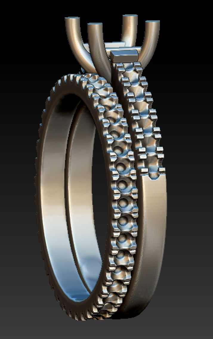 Copy of CAD work for diamond solitaire and diamond full set band,