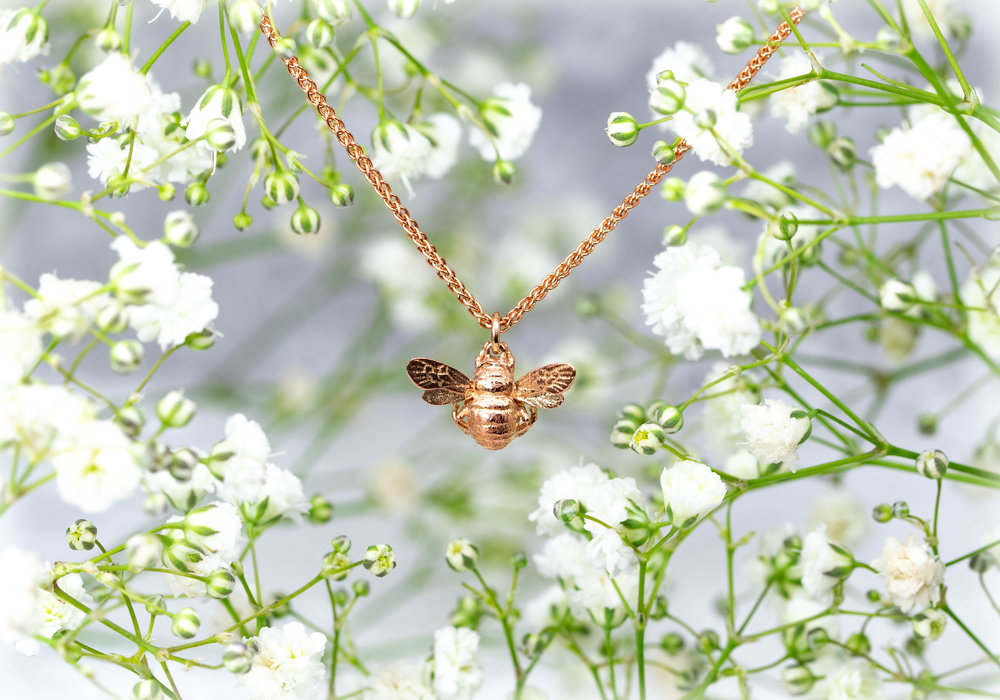 Our 9ct Rose Gold Bee.