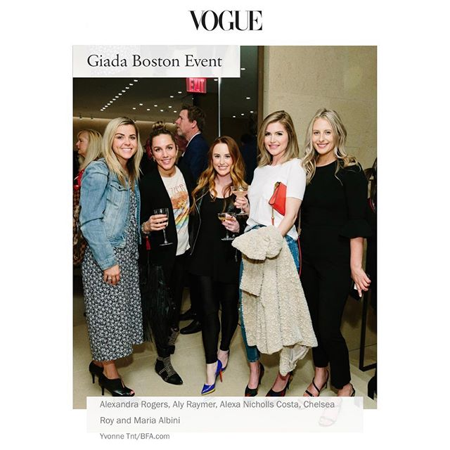 LexRx #spotted in @voguemagazine alongside @aly_raymer @chelsea_roy_ @blondemeetscity @giada_montenapoleone @vogue @alexandralrogers @alexanichollscosta . #fashion #runway #launchparty #italy #vogue #boston #beaconhill #southie #seaportboston #nursepractitioner #botox #lipinjections #bestofboston