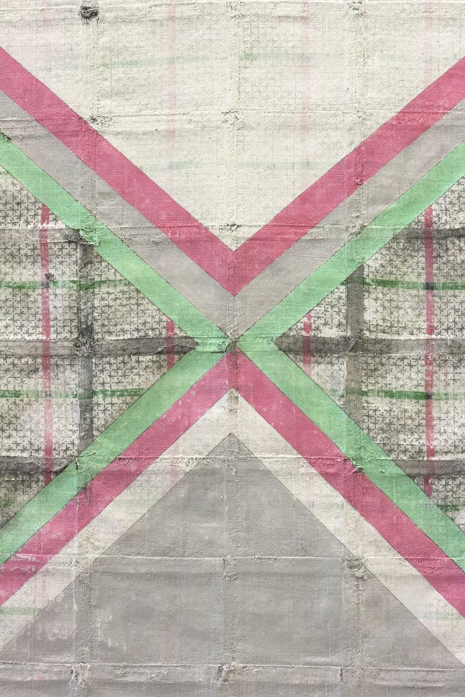 Lattice (in Green & Pink) (Detail)