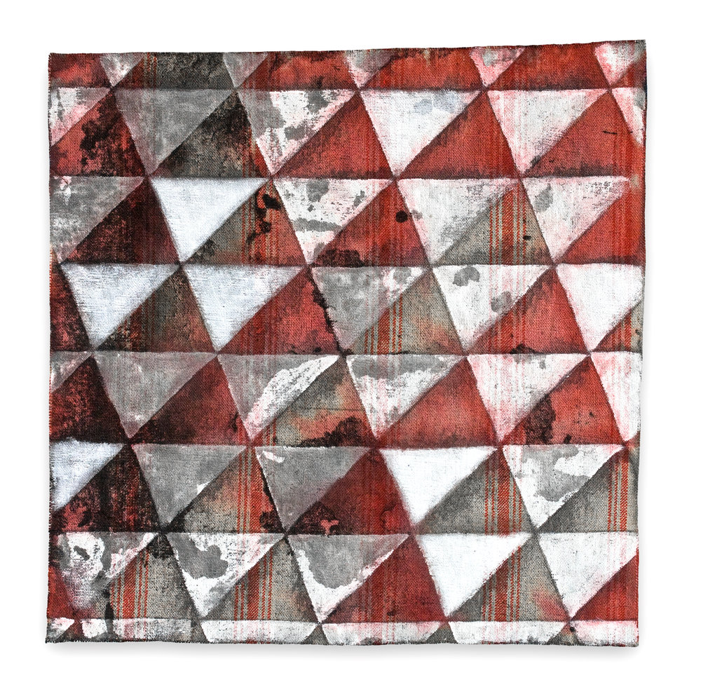 Untitled (Red on Linen)