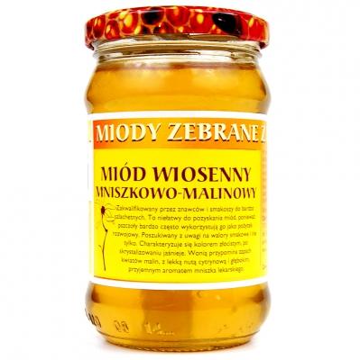 Miod wiosenny mniszkowo-malinowy / Spring Dandelion & Raspberry Honey 400g   5902741001719  / [401]   Dary Natury