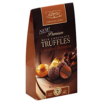 Milk Chocolate Truffles with Caramel Brownie Filling 148g   81907701193  / [238]   Baron Chocolatier