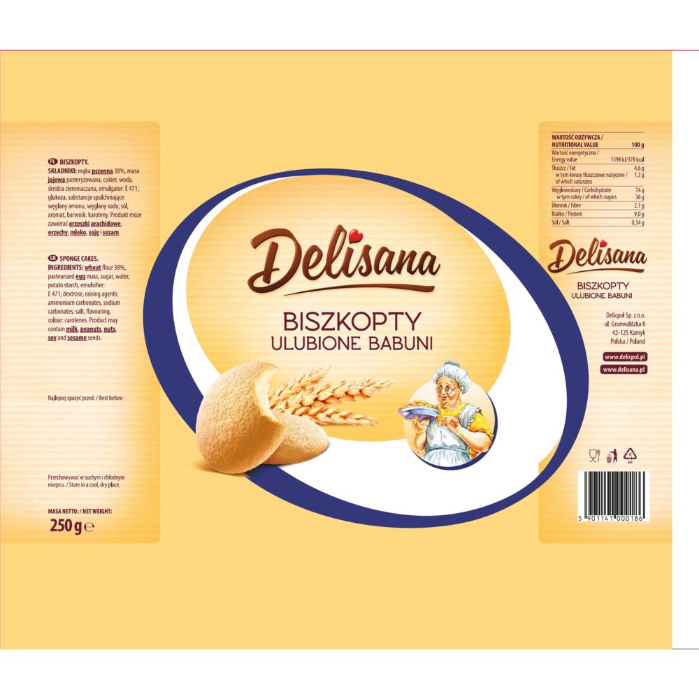Ulubione Babuni / Grandma's Favorite Biscuit 250g   5901141000186  / [0.414]   Delisana