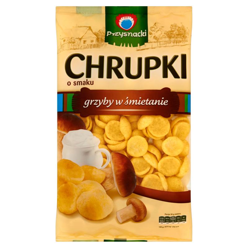 Chrupki Kukurydziane Grzyby w Smietanie / Sour Cream & Mushroom Crisps 150g   5900073020347  / [654]   Przysnacki