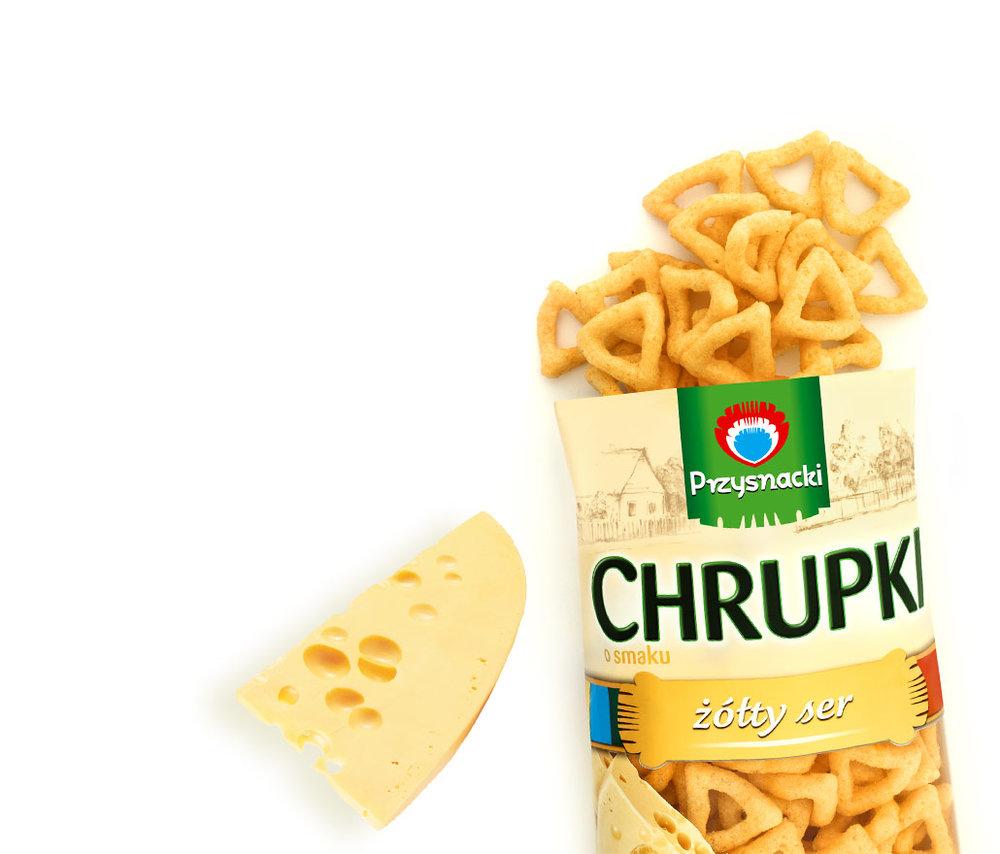 Chrupki Kukurydziane Zolty Ser / Yellow Cheese Crisps 150g   5900073020330  / [775]   Przysnacki