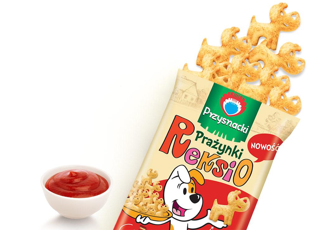 Chrupki Kukurydziane o Smaku Ketchupu / Ketchup Flavored Cornbread 120g   5900073020415  / [774]   Przysnacki