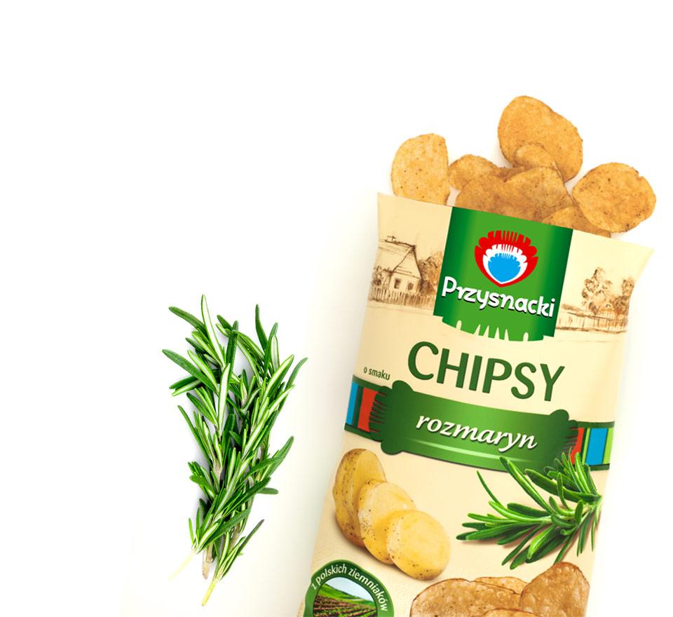 Chipsy Rozmaryn / Rosemary Chips 135g   5900073020057  / [630]   Przysnacki