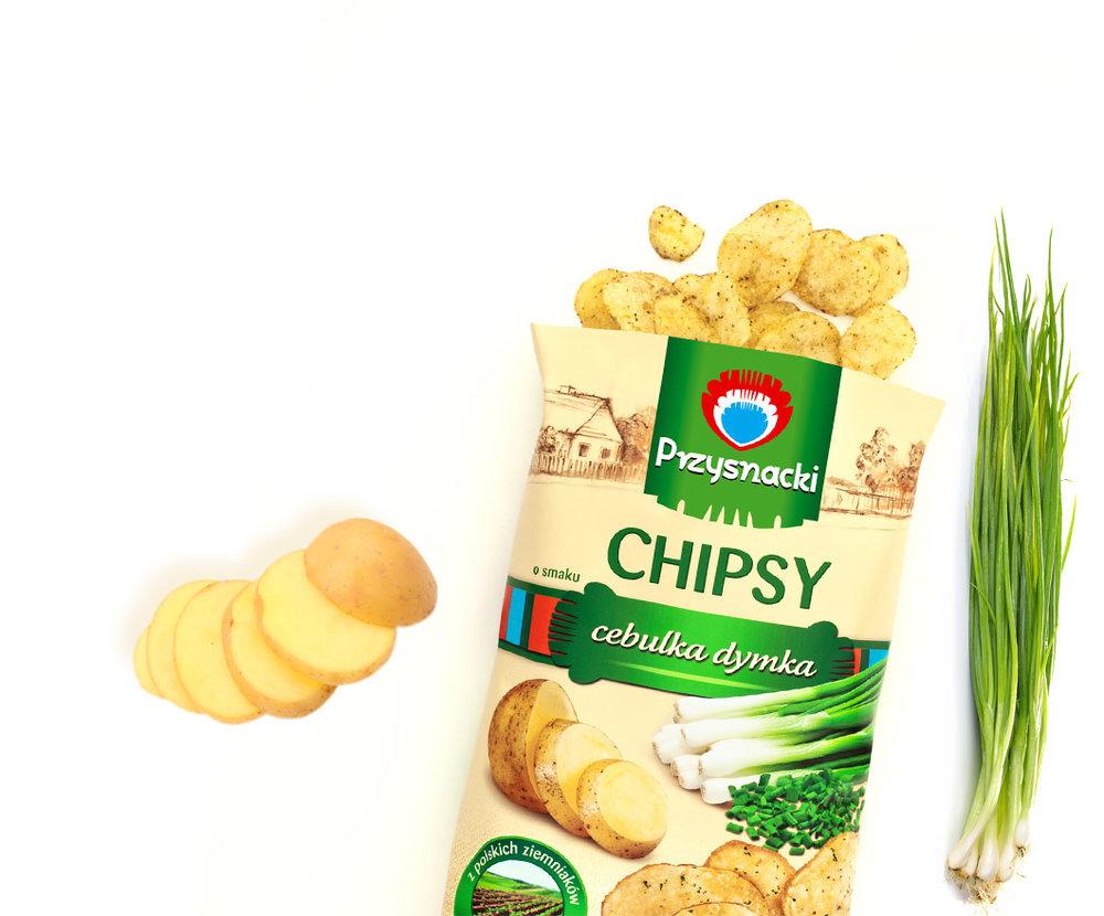 Chips Cebulka Dymka / Onion Chips 135g   5900073020040  / [629]   Przysnacki