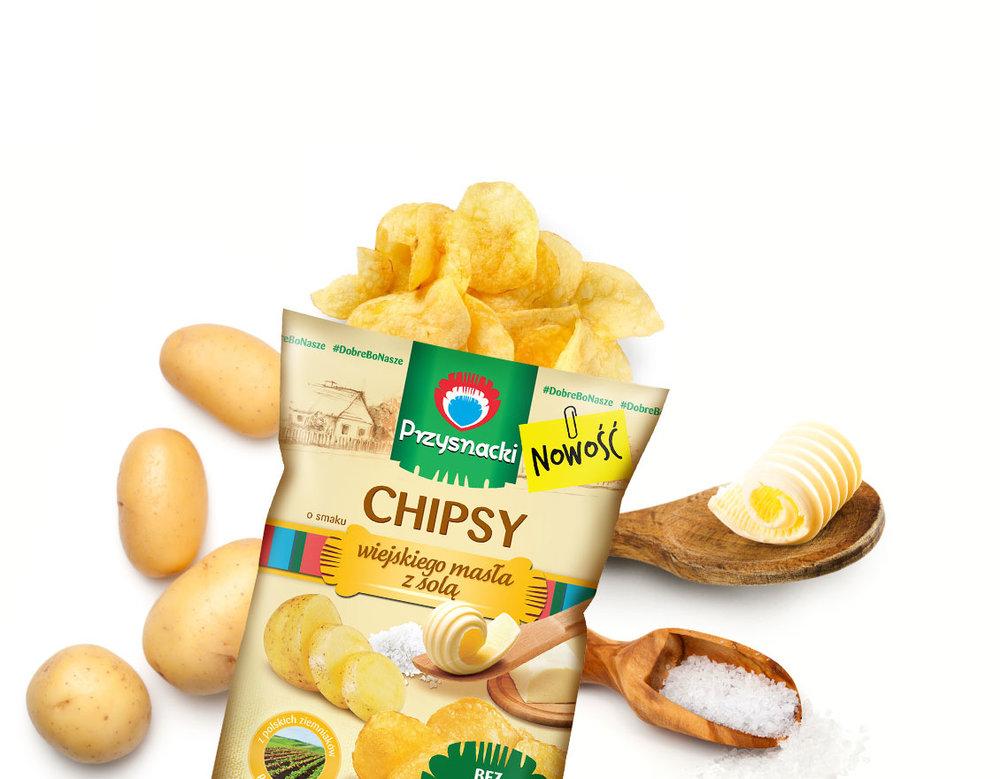 Prazynki Ziemniaczane Solone / Salted Potato Chips 120g   5900073020262  / [659]   Przysnacki