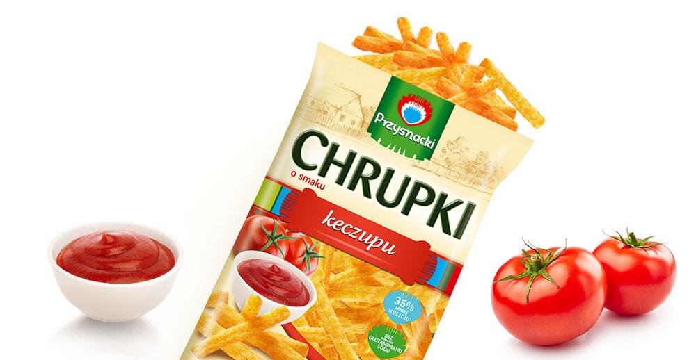 Prazynki Ketchupowe Reksio / Ketchup Chips 90g   5900073020248  / [773]   Przysnacki