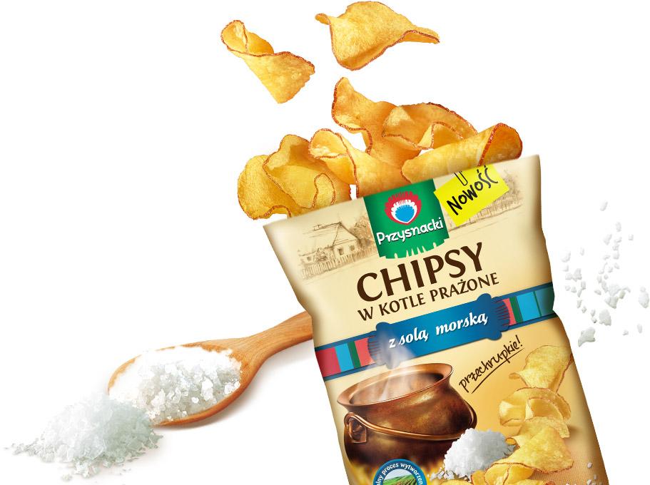 Chipsy w Kotle Prazone Sol Morska / Sea Salt & Pepper Kettle Chips 125g   01035817661085  / [658]   Chipsy w Kotle