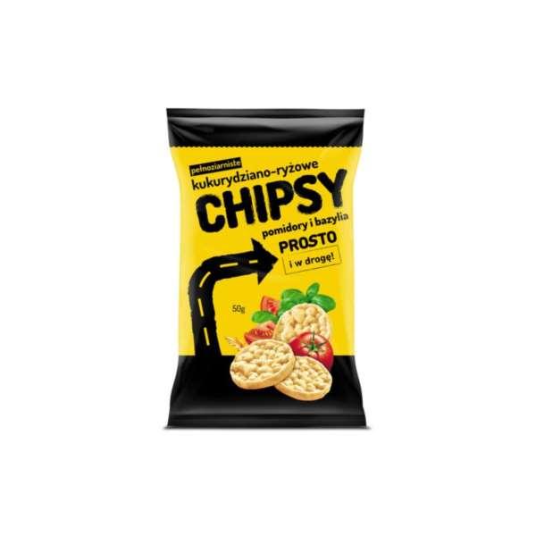 Chipsy Kukur-ryzowe Pomidory i Bazylia / Cucumber, Tomato & Basil Kettle Chips 50g   8586010680477  / [675]   Prosto