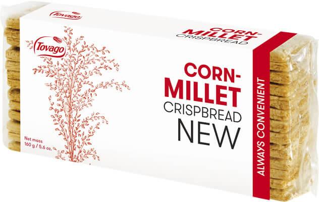Kukurydziano-jaglane/ Corn & Millet Crisp Bread 160g   5901534000854  / [792]   Tovago-Pieczywo Chrupkie