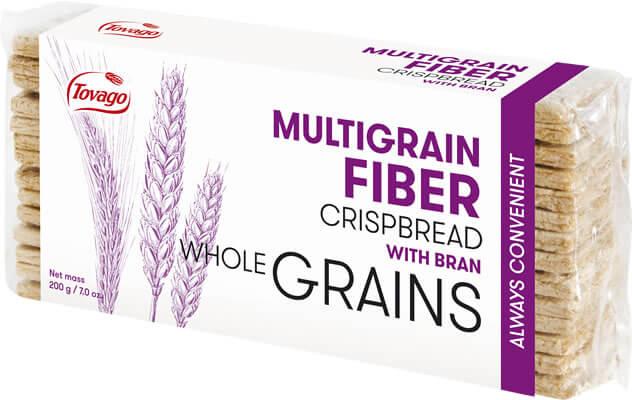 Wieloziarniste z Otrebami / Multigrain Fiber Crisp Bread with Bran 200g   5901534000540  / [790]   Tovago-Pieczywo Chrupkie