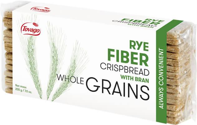 Zytnie z Otrebami / Rye Fiber Crisp Bread with Bran 200g   5901534000533  / [791]   Tovago-Pieczywo Chrupkie