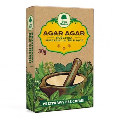 Agar-agar Roslinna Substancja Zelujaca / Agar Agar 30g   5902768527216  / [372]   Dary Natury