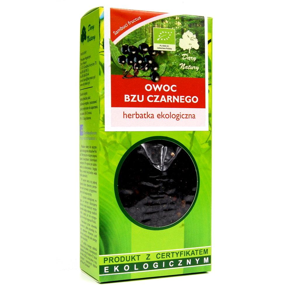 Bez Czarnego Owoc Eko / Black Fruit Tea 100g   5902741004178  / [943]   Lisciaste