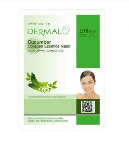 Cucumber Collagen Essence Face Mask   000  / [A13]   Dermal