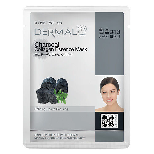 Charcoal Collagen Essence Face Mask   000  / [A39]   Dermal
