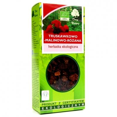 Herbata truskawkowo-malinowo-rozana Eko / Strawberry Raspberry Tea 100g   5902741005793  / [0.388]   Lisciaste