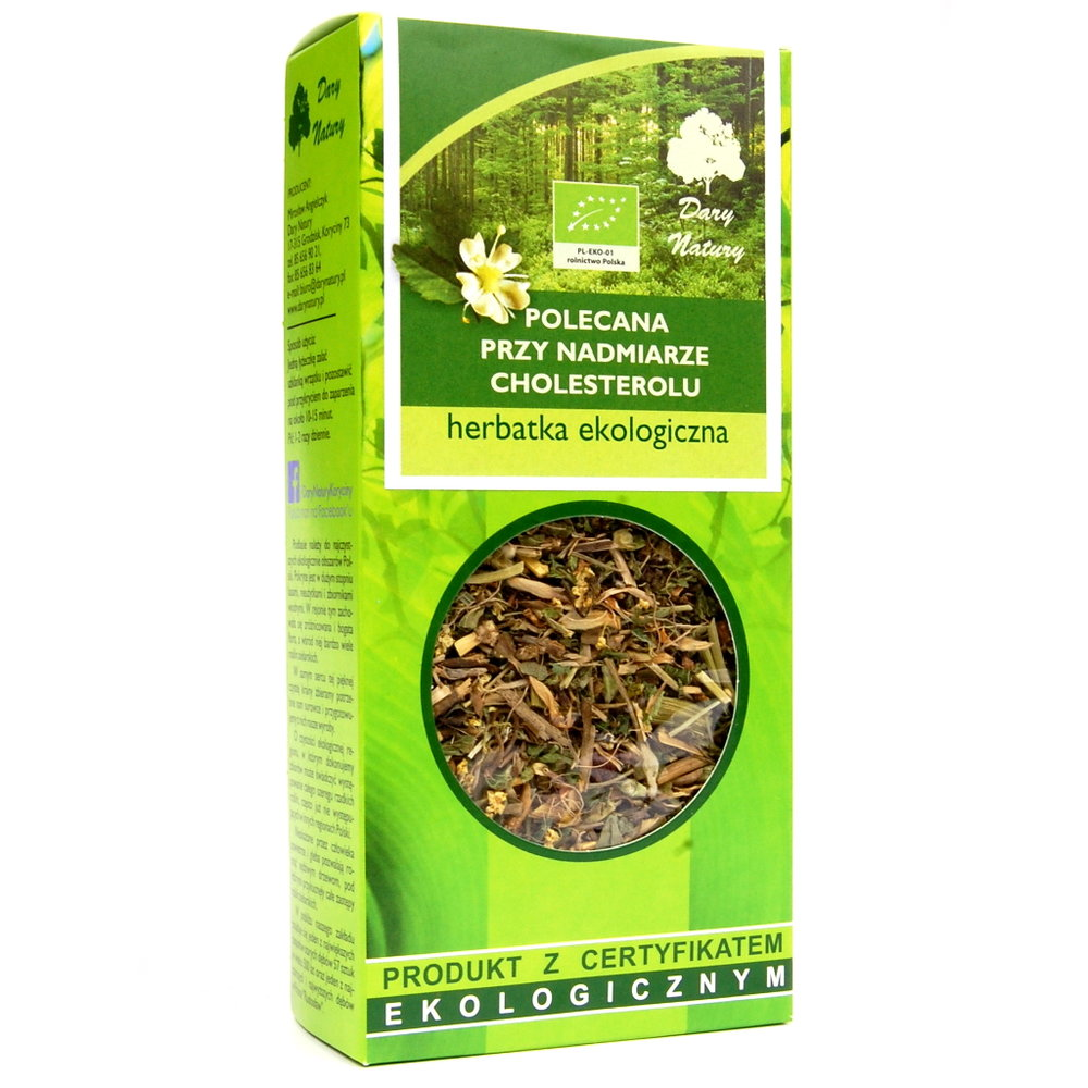 Herbata polecana przy nadmiarze cholesterolu Eko / Tea Recommended for Cholesterol 50g   5902741005175  / [936]   Funkcyjne Herbaty Lisciaste
