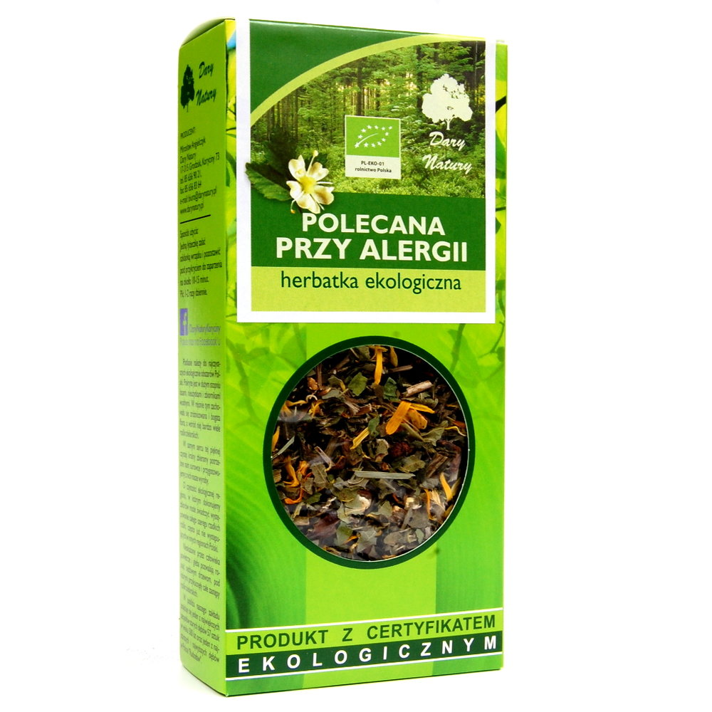 Herbata polecana przy alergii Eko / Tea Recommended for Allergies 50g   5902741005113  / [979]   Funkcyjne Herbaty Lisciaste