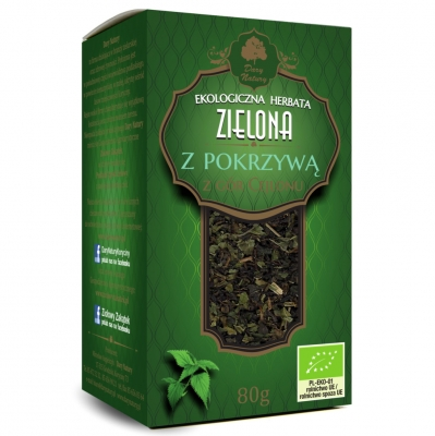 Zielona z Pokrzywa Eko / Green Tea with Nettle 80g   5902581617064  / [894]   Zielone Herbaty Lisciate Eko