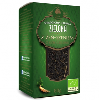 Zielona z Zen-szeniem Eko / Ginseng Green Tea 80g   5902581617033  / [896]   Zielone Herbaty Lisciate Eko