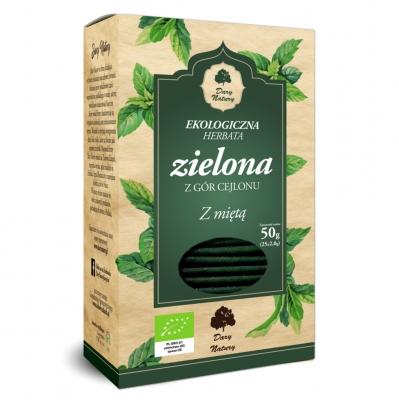 Herbata Zielona z Mieta Eko / Green Tea with Mint 25x2g   5902581617460  / [919]   Zielone Herbaty Ekspresowe Eko