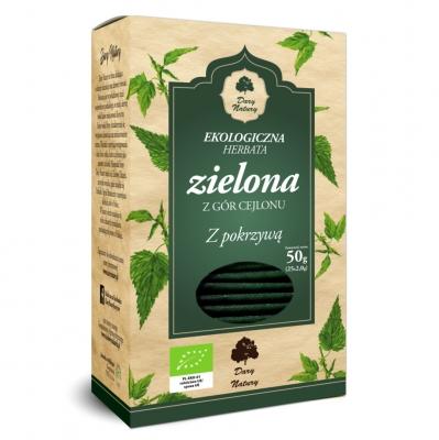Herbata Zielona z Pokrzywa Eko / Green Tea with Nettle 25x2g   5902581617538  / [921]   Zielone Herbaty Ekspresowe Eko