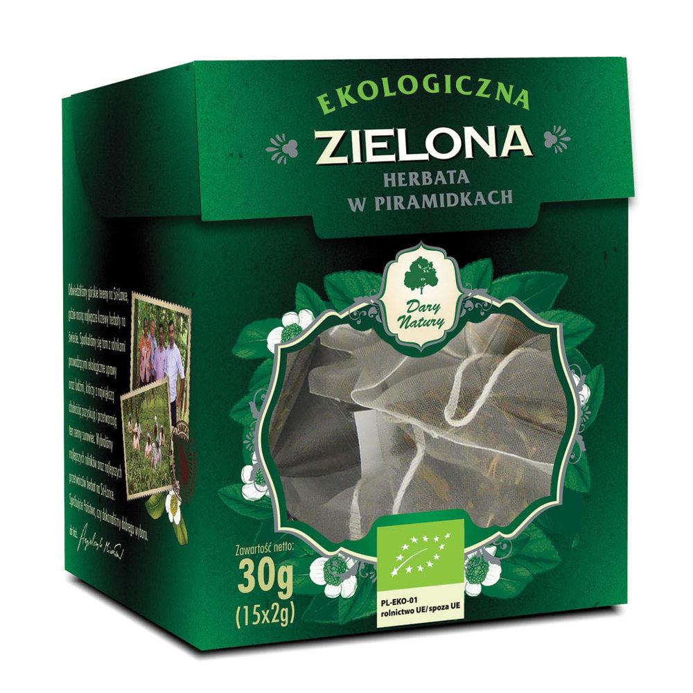 Zielona Eko / Green Tea 15x2g   5902581617262  / [889]   Zielone Herbaty Piramidki