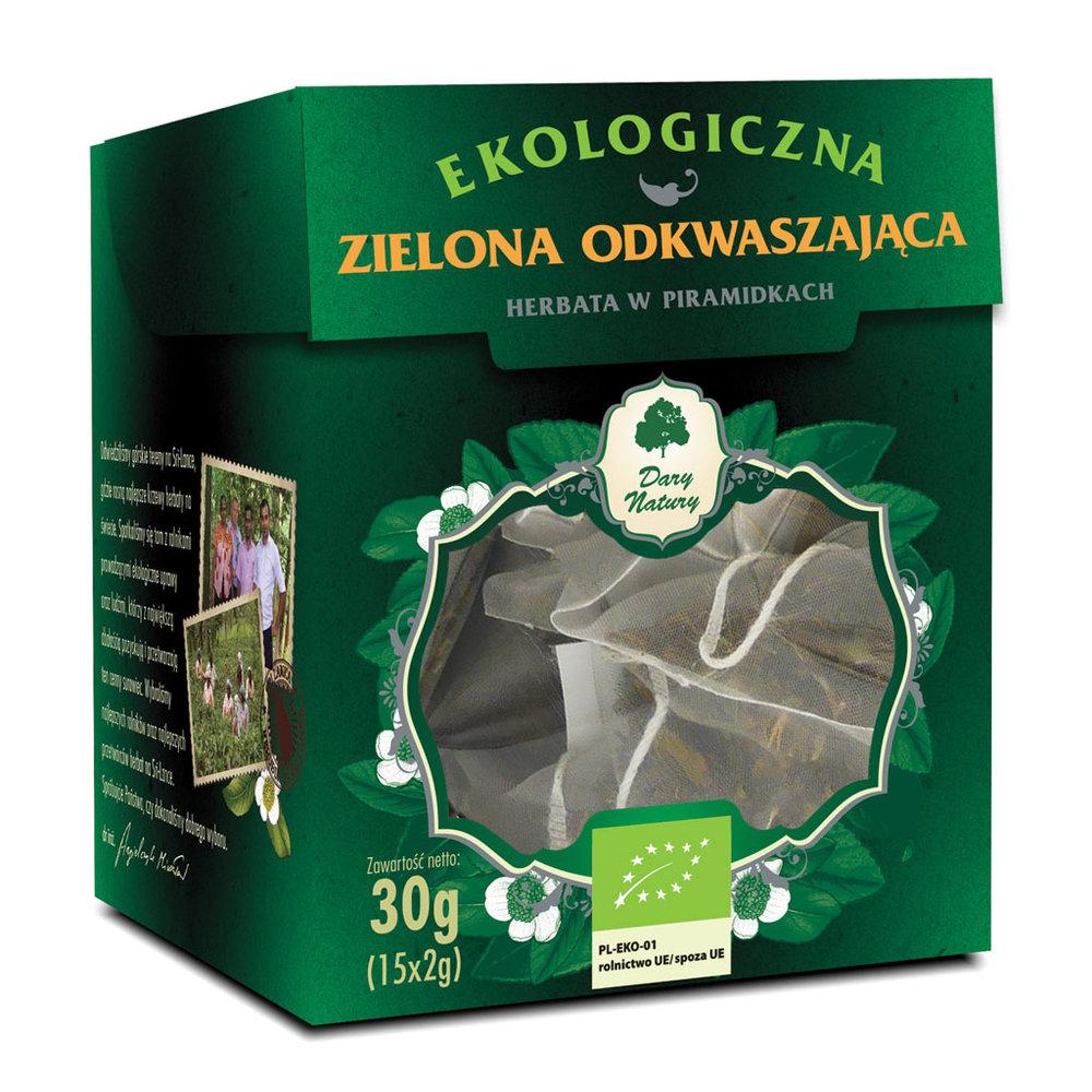 Zielona Odkwaszajaca Eko / Antacid Green Tea 15x2g   5902581617422  / [954]   Zielone Herbaty Piramidki