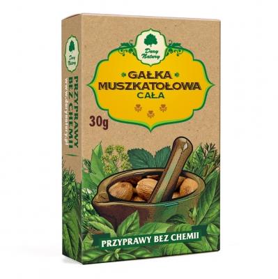 Galka muszkatowoa cala / Whole Nutmeg 30g   5902741003317  / [481]   Dary Natury
