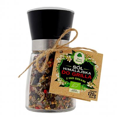 Sol himalajska z eko ziolami do Grila / Himalayan salt with herbs organic 120g   5902741003621  / [383]   Dary Natury