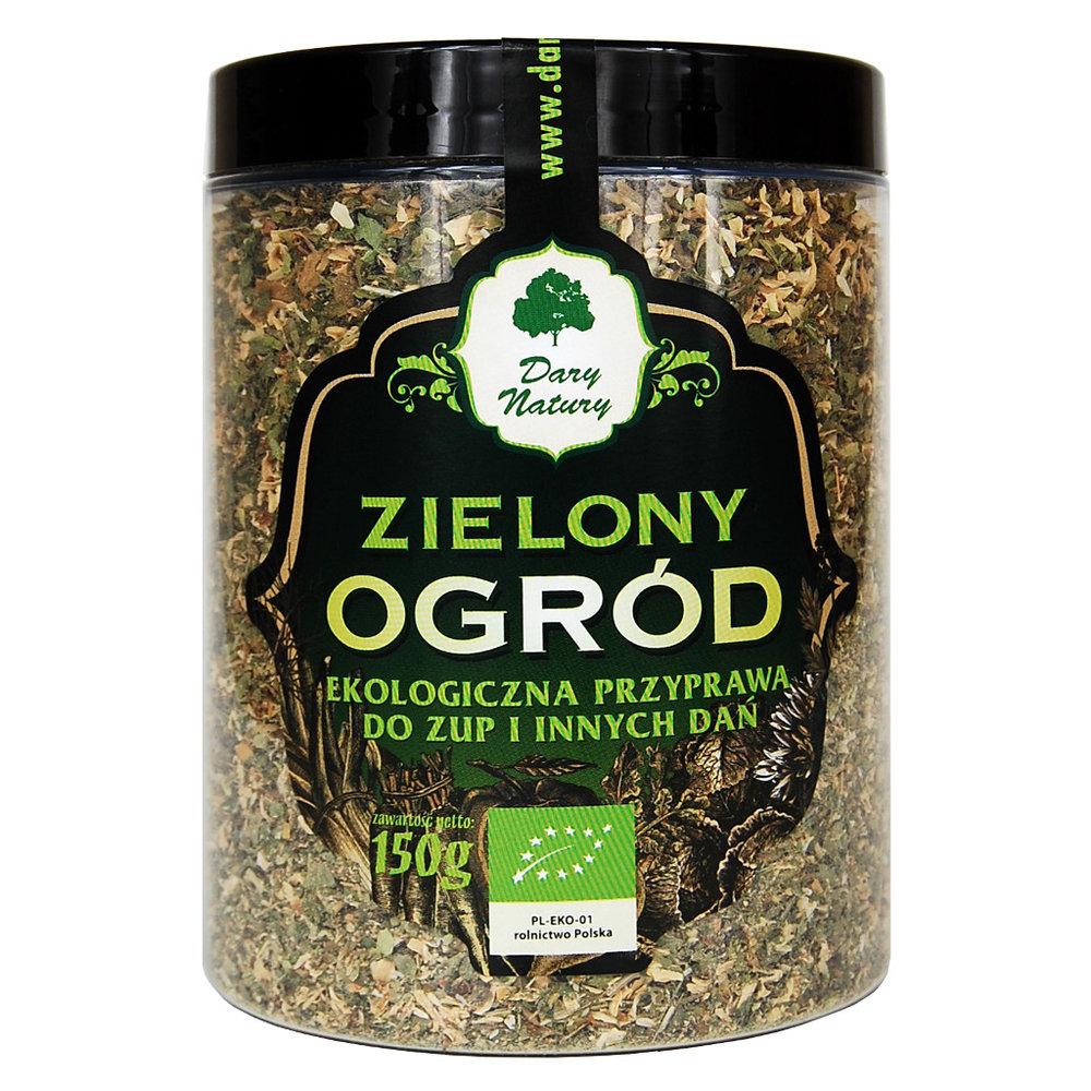 Eko Przyprawa do Zup i Innych Dan Zielony Ogrod / Green Vegetable Soup Mix 150g  000 / [647]   Dary Natury