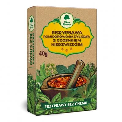 Przyprawa pomidorowo-bazyliowa z czosnkiem Niedzwiedzim / Tomato & Basil & Garlic Seasoning 40g   5902768527346  / [484]   Dary Natury