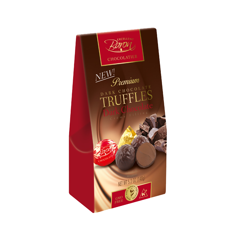 Dark Chocolate Truffles with Dark Chocolate Creme FIlling 148g   819077011914  / [235]   Baron Chocolatier