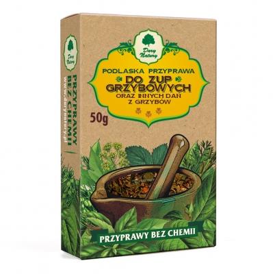 Przyprawa do zupy grzybowej i innych dan z grzybow / Mushroom Soup & Other Seasoning 50g   5902741003492  / [464]   Dary Natury