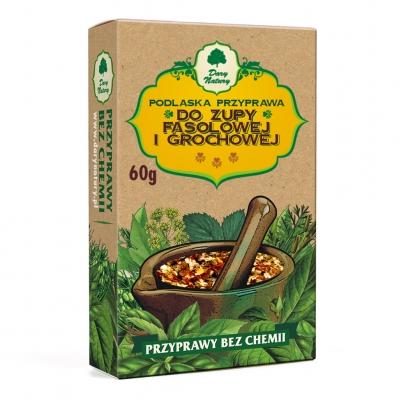Do Zupy Fasolowej i Grochowej / Bean & Pea Soup Seasoning 60g  5902741004529 / [424]   Dary Natury