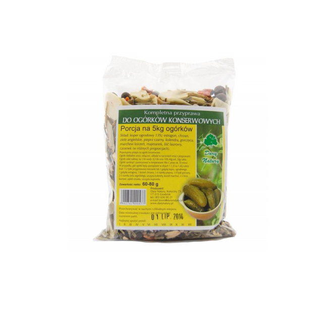 Do Ogorkow Konserwowych / Pickled Cucumber Seasoning 80g  5902741004529 / [453]   Dary Natury