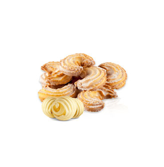 Ciastka Rogaliki z Cukrem Pudrem / Cake Croissants with Powdered Sugar 750g   5901996000768  / [616]   Zlotoklos